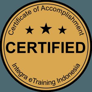 Seal sertifikat Integra eTraining Indonesia
